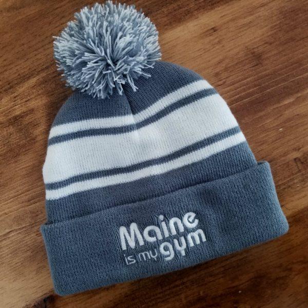 maine is my gym winter hat