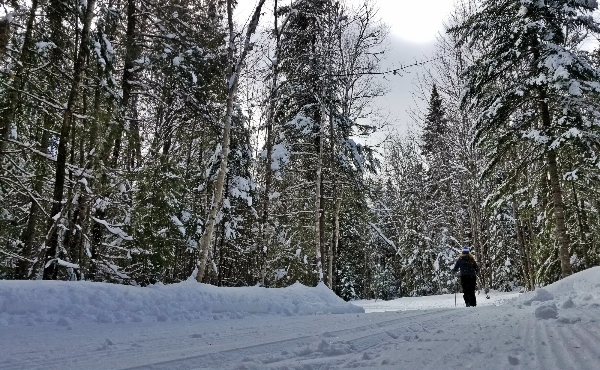 Cross-country skiing perfection at the Fort Kent Outdoor Center