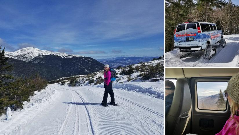 Snowcoach snowshoe mt washington