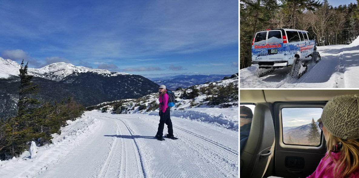 Take the SnowCoach up, snowshoe down Mt. Washington's Auto Road