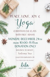 Christmas Eve Donation Class @ Lila East End Yoga | Portland | Maine | United States
