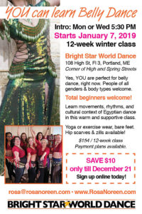 Winter Belly Dance Classes with Rosa Noreen! @ Bright Star World Dance