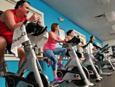 YCycle class at the YMCA in Biddeford Maine