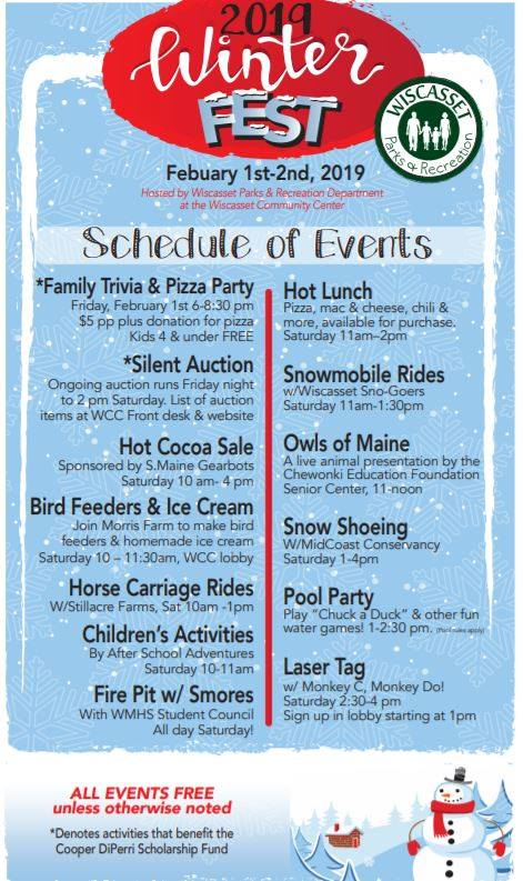 Winterfest! in Wiscasset @ Wiscasset Commuity Center