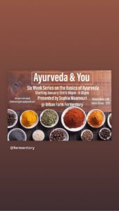 Ayurvedic Wellness Classes for Women @ Urban Farm Fermentory