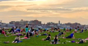 4th Annual Kickoff to Outdoor Yoga at Bug Light Park! @ Bug Light Park