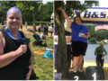 I did it! Peggy Glass Morin after her first-ever open water swim