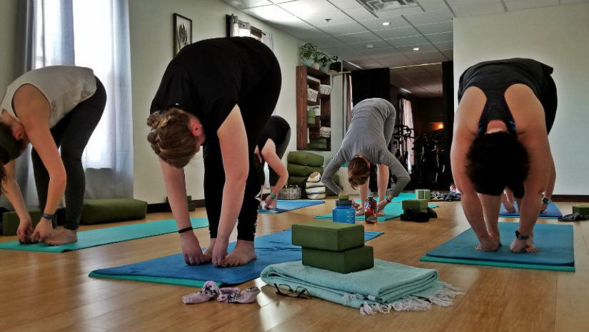 Freeport Fitness Maine spin yoga