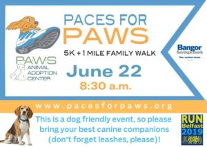 Paces for PAWS @ Belfast Rail Trail