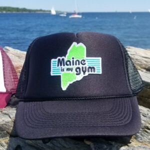 "dbd7a3d2 ""Maine is my gym"" Trucker Hat – Black"