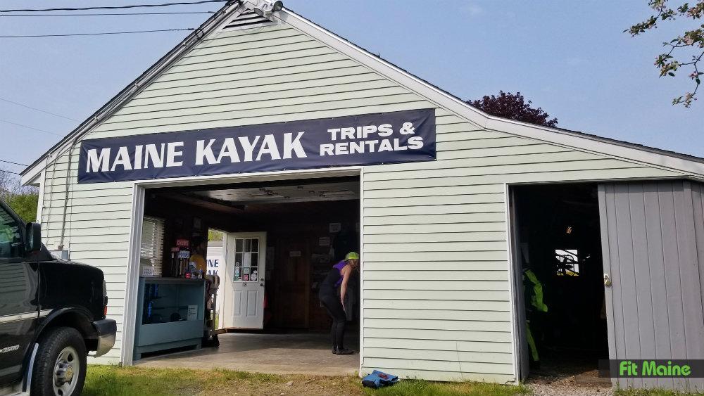 Maine kayak building