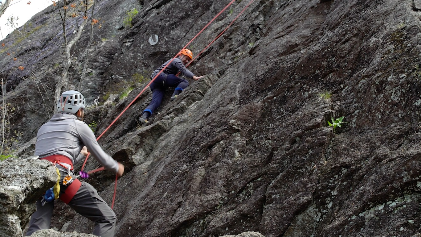 MY FIRST TIME: Michael Hitz goes rock climbing with Equinox Guiding Service