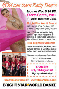 Intro to Belly Dance - Fall Class with Rosa Noreen @ BrightStar World Dance