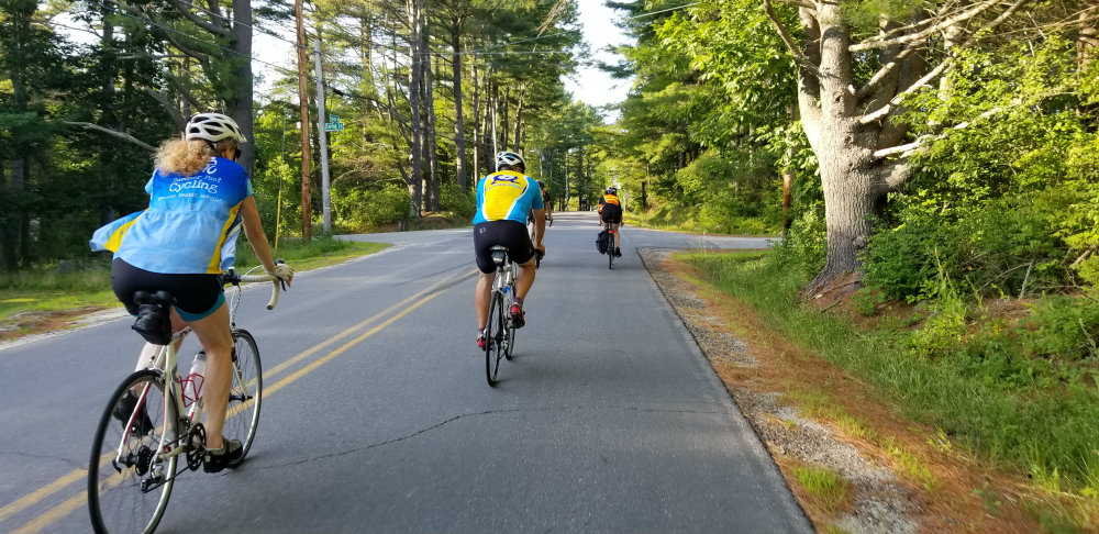 cyclists on a rura road