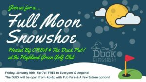 Full Moon Snowshoe with CREA! @ Cathance River Education Alliance