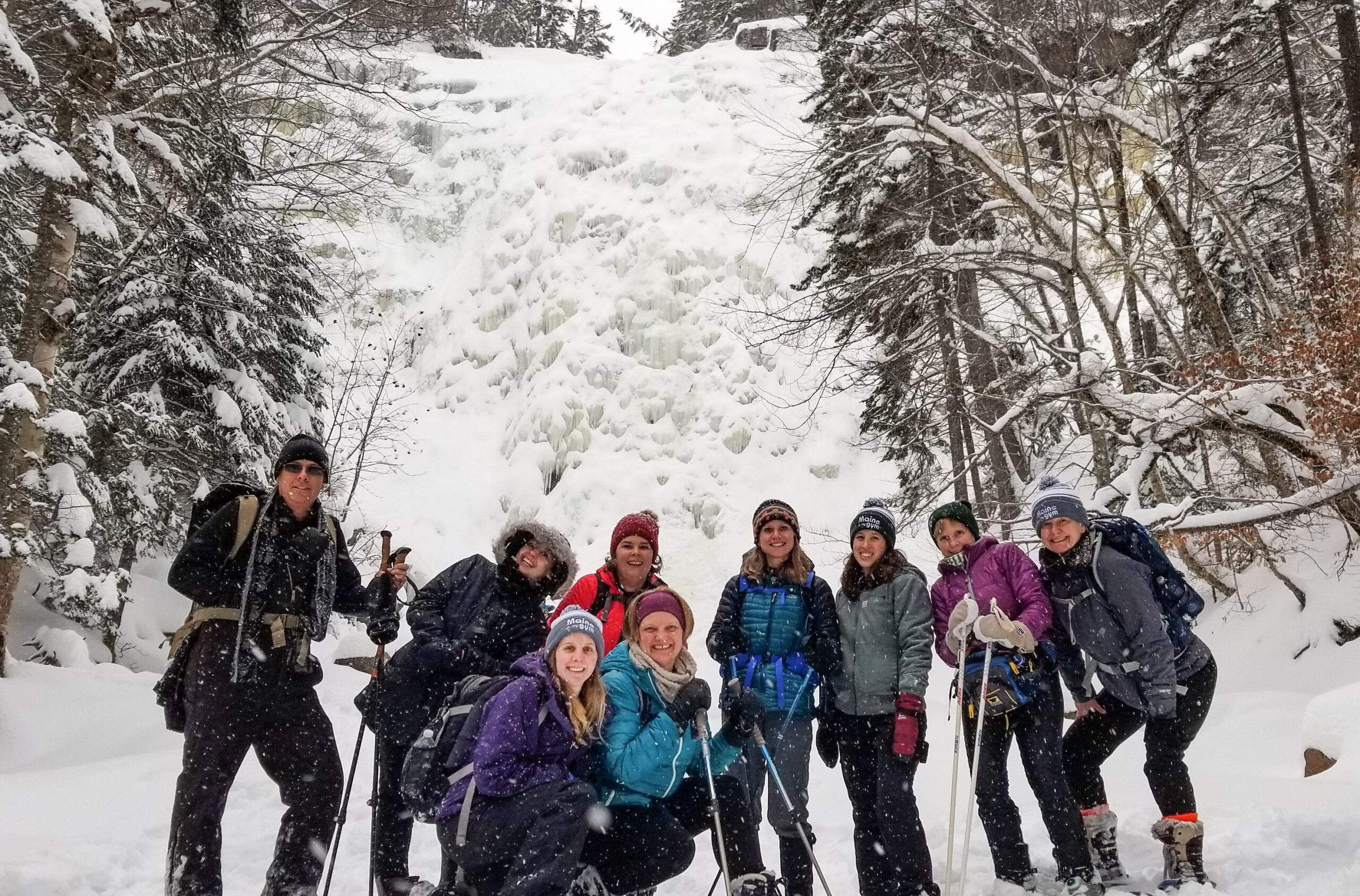 Snowshoe to Arethusa Falls, Crawford Notch, White Mountains