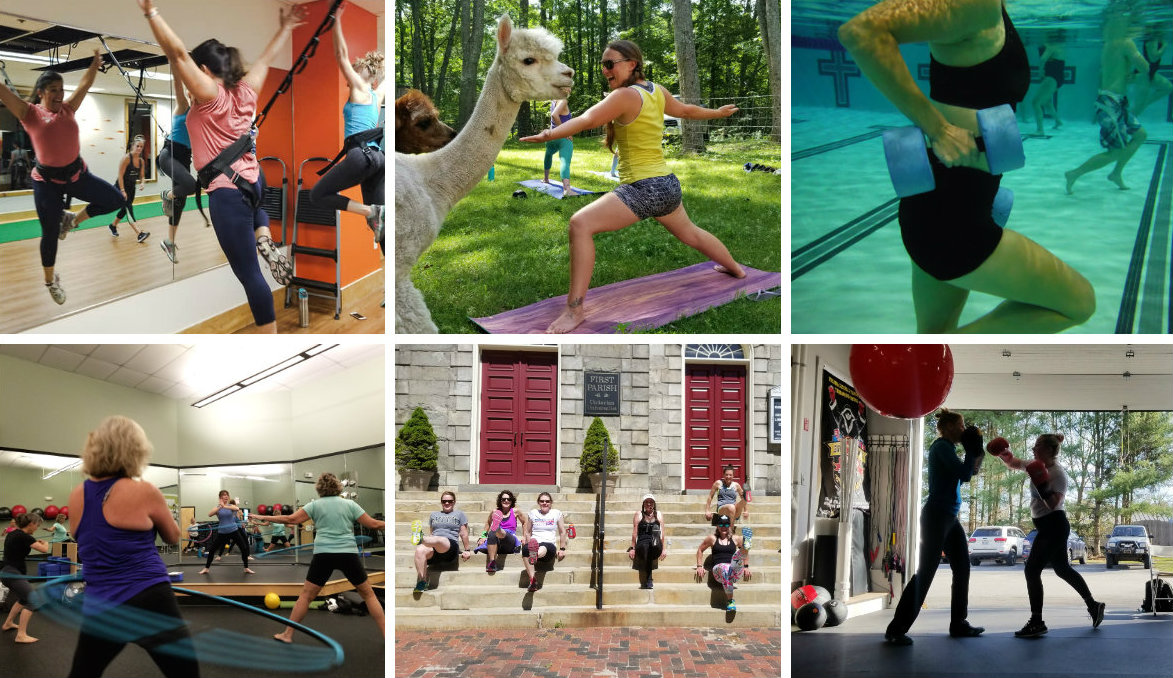 Cool ways to work out in Maine: Fun fitness classes involving hula hoops, alpaca, and swimming pools