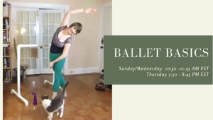 Ballet Basics for Adults - Online Drop-in Classes with Rosa! @ Online |  |  |
